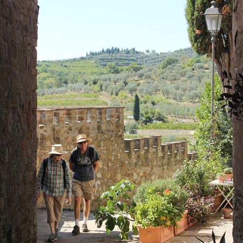 Hiking amongst Tuscany's hilltop towns.