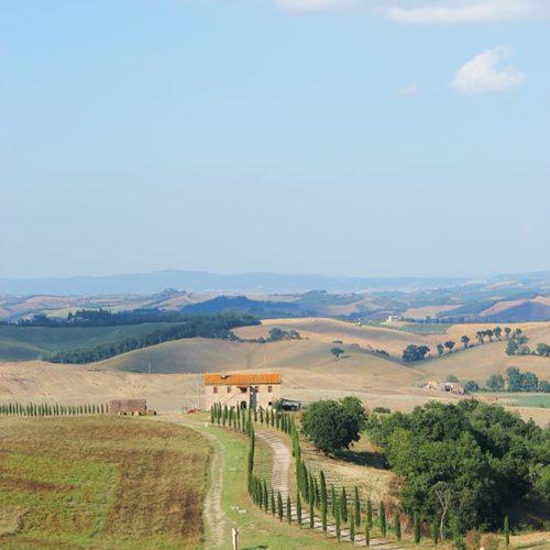 Tuscany, a hiking tour in the Crete Senesi, Siena, Italy