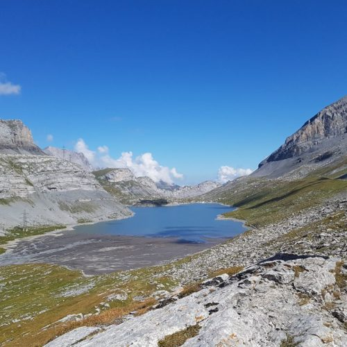 Hiking from Kandersteg to Leukerbad over the Gemmi Passs, between Bernese Oberland and Valais