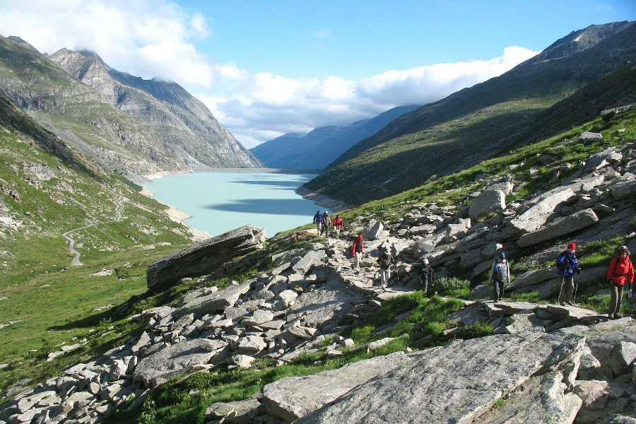 hiking tour of monte rosa | saas fee region