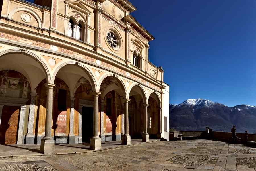 sanctuary of madonna del sasso-panorama
