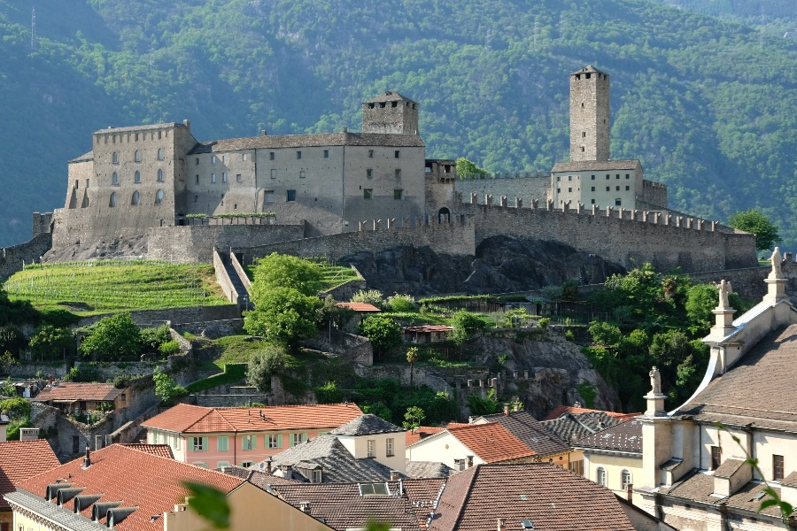medieval bellinzona & saturday market medieval bellinzona & saturday market | castelgrande